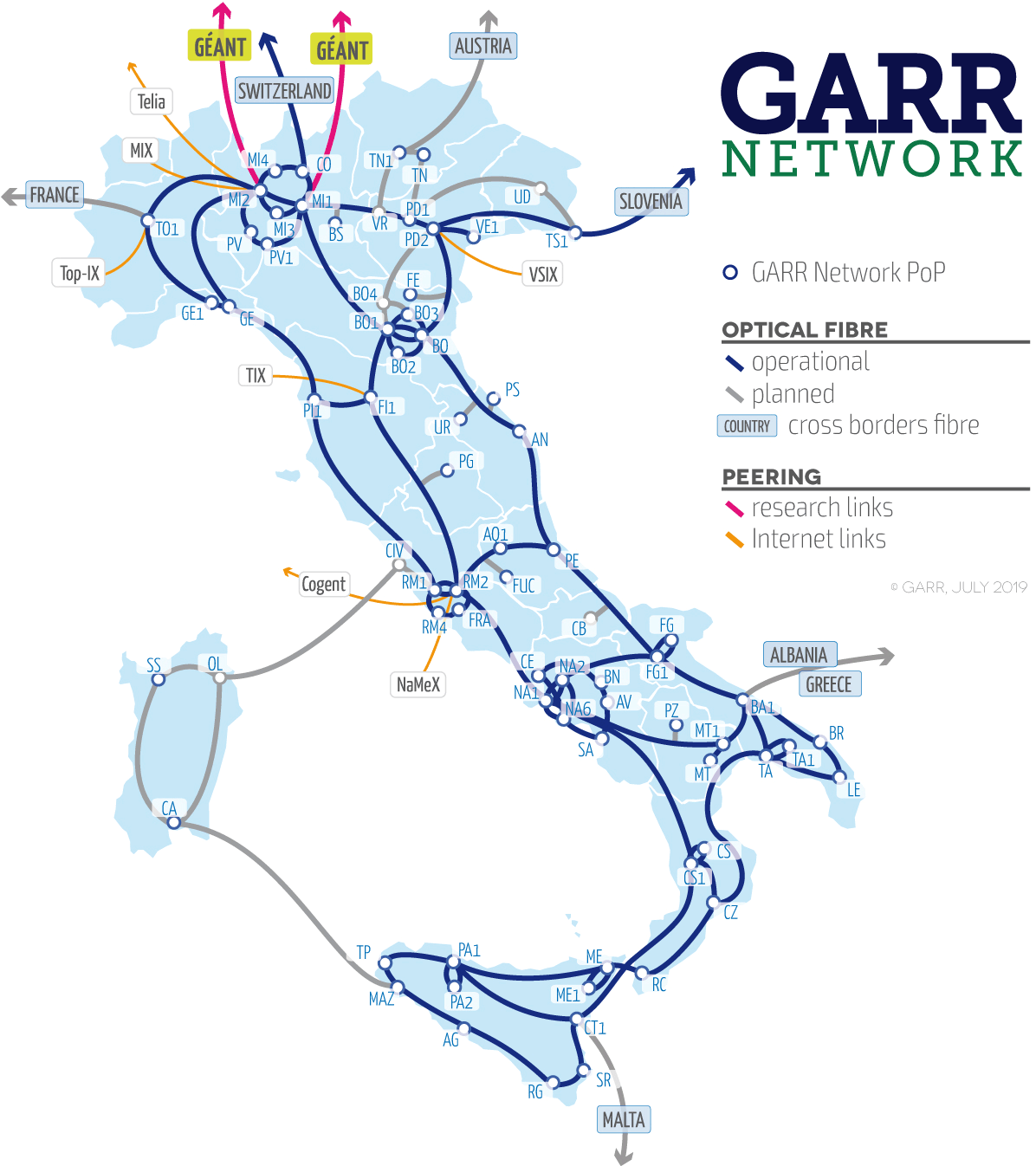GARR Network Map