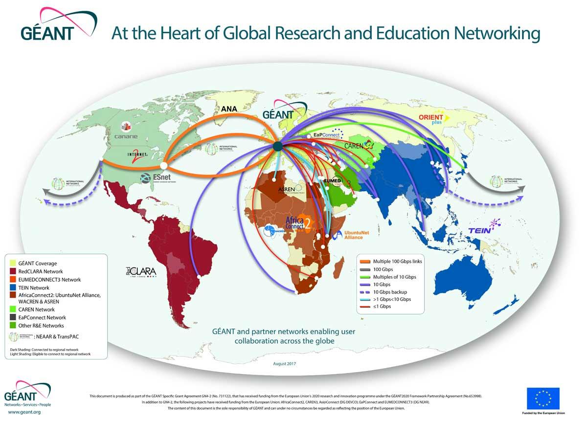 Mappa Globale GÉANT
