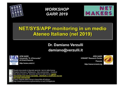 Workshop GARR 2019 - Presentazione - Verzulli