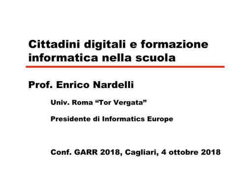 Conferenza GARR 2018 - Presentazione - Nardelli