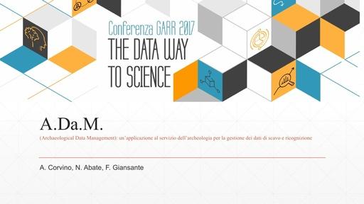 Conferenza GARR 2017 - Presentazione - Corvino