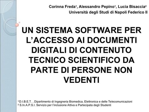 Conferenza GARR 2009 - Presentazione - Freda