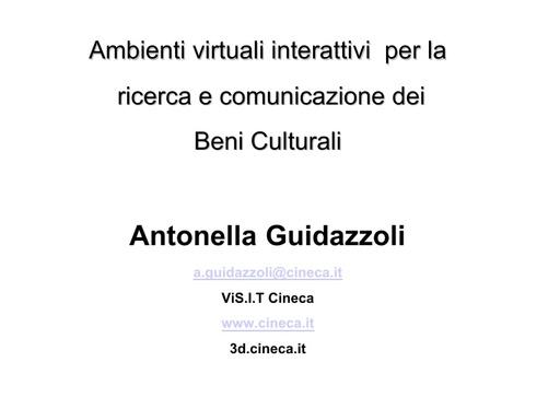 Conferenza GARR 2007 - Presentazione - Guidazzoli