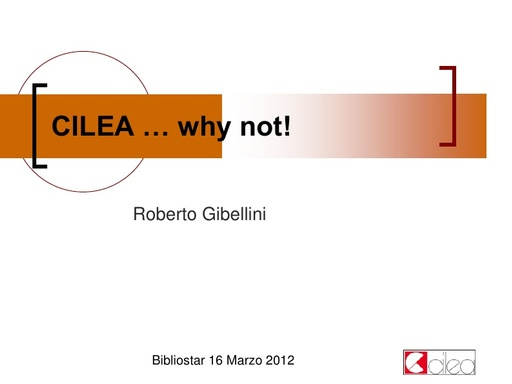 IDEM Biblio Day 2012 - Presentazione - Gibellini