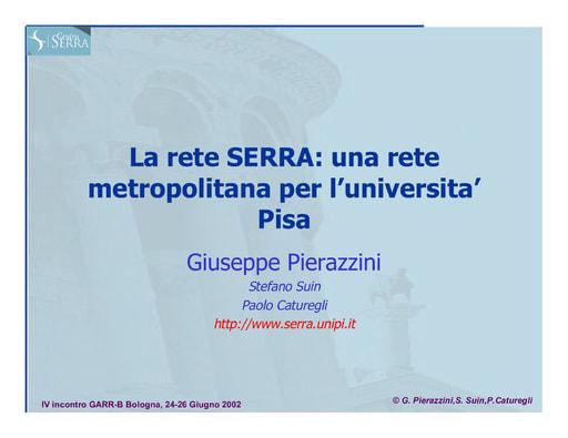 WS04 - Pierazzini - La Rete Metropolitana dell'Università di Pisa