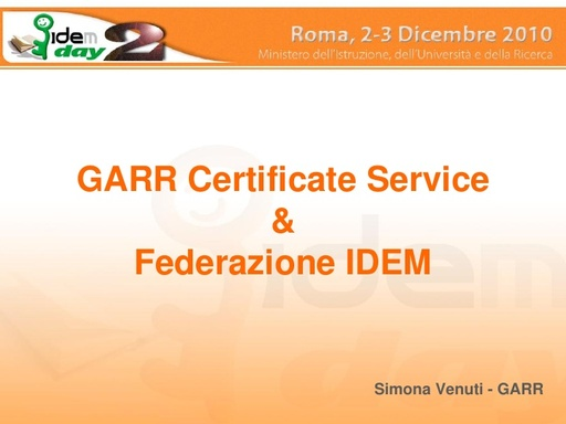 II IDEM Day - presentazione - Venuti
