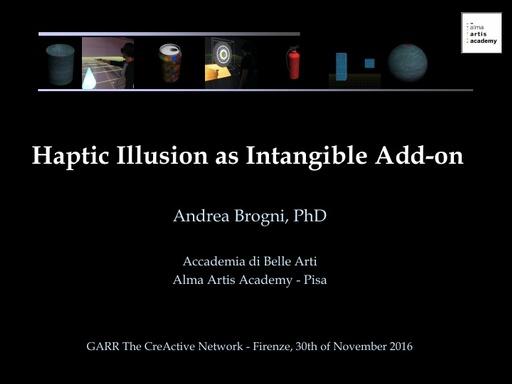 Conferenza GARR 2016 - Presentazione - Brogni