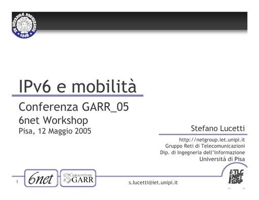 Conferenza GARR 2005 - Presentazione - Lucetti
