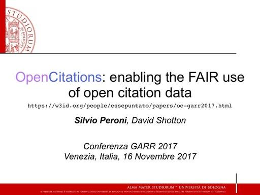 Conferenza GARR 2017 - Presentazione - Peroni