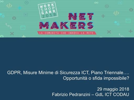 WS18 - F. Pedranzini - GDPR, MMS e Piano Triennale ICT