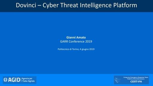 Conferenza GARR 2019 - Presentazione - Amato