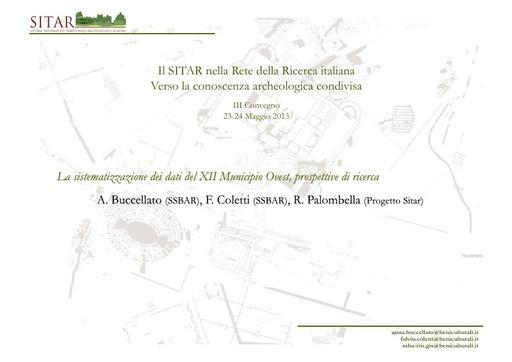 Sitar13 - Presentazione - Buccellato - Coletti - Palombella
