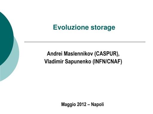 WS12 - presentazione - A.Maslennikov - V.Sapunenko