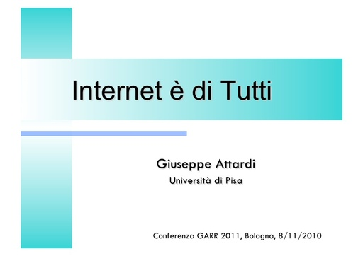 Conferenza GARR 2011 - Presentazione - Attardi G.