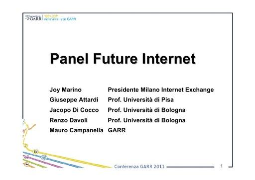 Conferenza GARR 2011 - Presentazione - Campanella M.