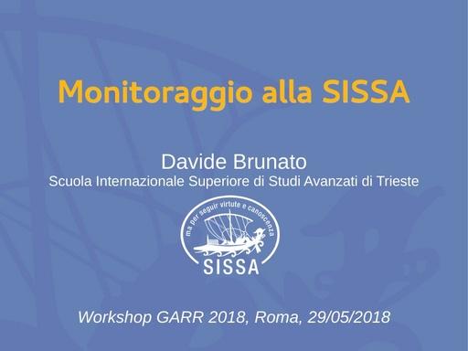 WS18 - D. Brunato - Monitoraggio alla SISSA