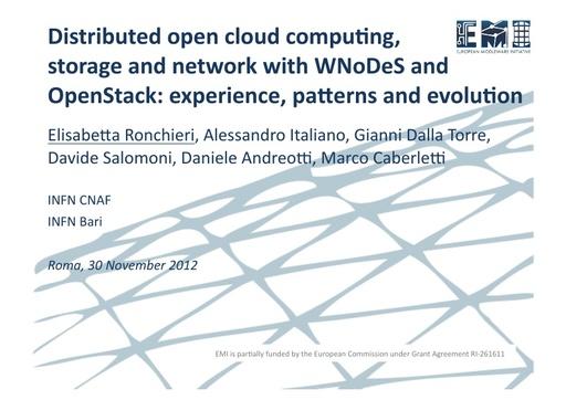 WsCSD12 - Presentazione - E. Ronchieri