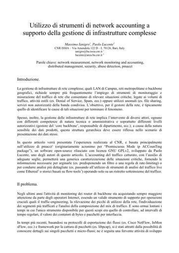 Conferenza GARR 2005 - Abstract - Lucente