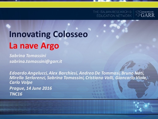 TNC16 - Innovating Colosseo - english slides