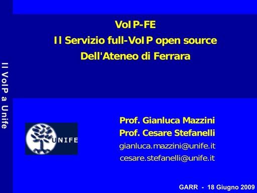 Ws09 - Presentazione - Stefanelli - Mazzini