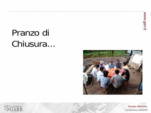 Conferenza GARR 2009 - Presentazione - Allocchio
