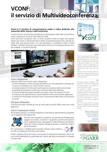 Il servizio VCONF