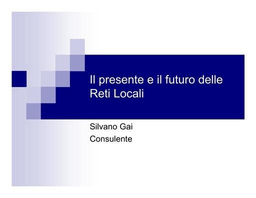 Conferenza GARR 2006 - Presentazione - Gai