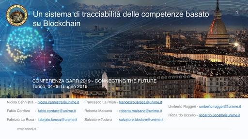 Conferenza GARR 2019 - Presentazione - La Rosa