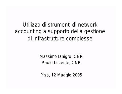 Conferenza GARR 2005 - Presentazione - Lucente