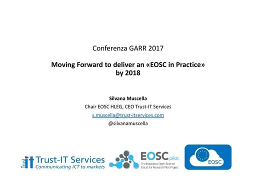 Conferenza GARR 2017 - Presentazione - Muscella