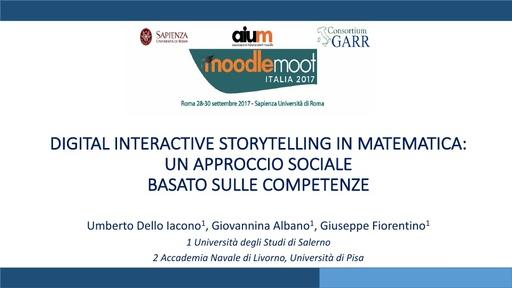 MoodleMoot 2017 - Dello Iacono - Digital interactive storytelling in matematica