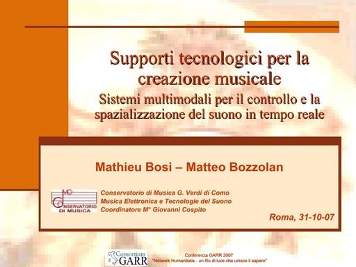Conferenza GARR 2007 - Presentazione - Bosi - Bozzolan