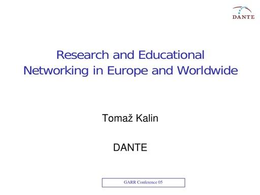 Conferenza GARR 2005 - Presentazione - Kalin