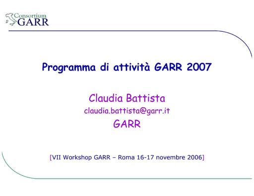Ws07 - Presentazione - Battista