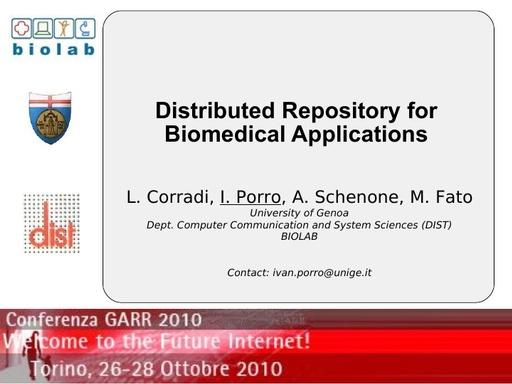 Conferenza GARR 2010 - Presentazione - Porro
