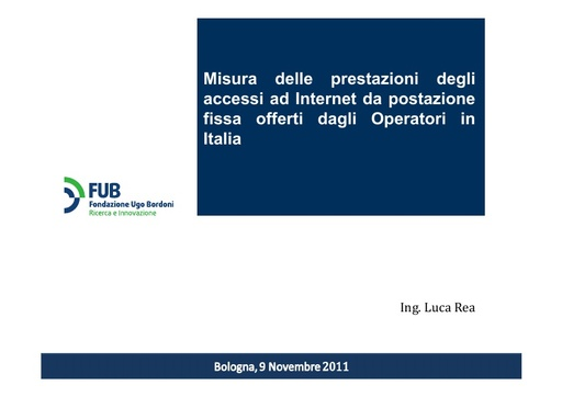 Conferenza GARR 2011 - Presentazione - Rea L.