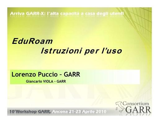 WS10 - Puccio - eduroam (v. 3/6/10)