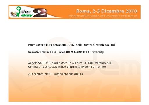 II IDEM Day - presentazione - Sacca