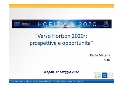 WS12 - presentazione - P. Materia