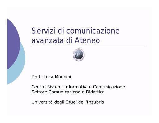 Conferenza GARR 2005 - Presentazione - Mondini