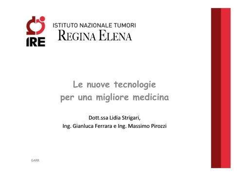 Conferenza GARR 2011 - Presentazione - Strigari L.