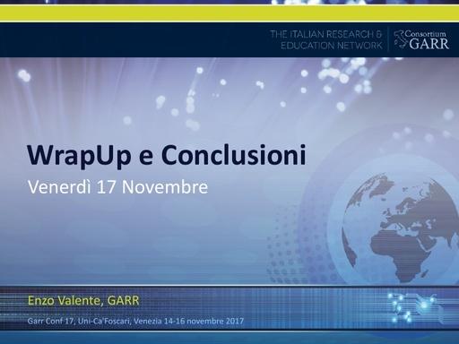 Conferenza GARR 2017 - Presentazione - Valente