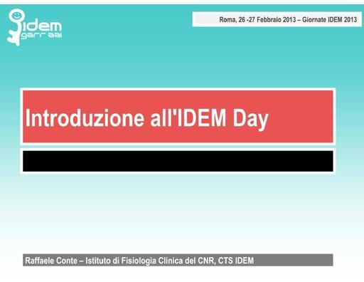 IV IDEM Day - presentazione - Conte R.