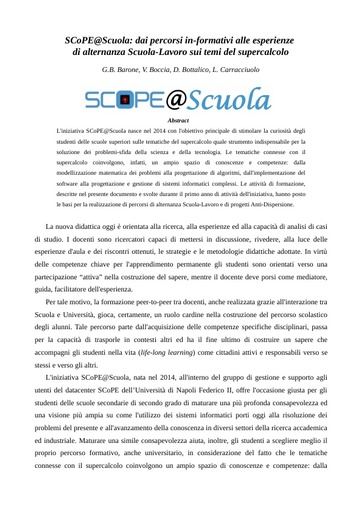 Conferenza GARR 2016 - Paper - Carracciulo