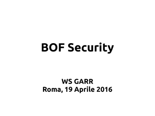 WS16 - GDL - Sicurezza
