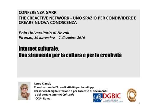 Conferenza GARR 2016 - Presentazione - Ciancio