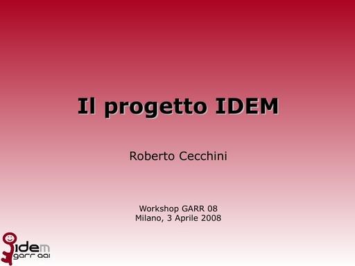 Ws08 - Presentazione - Cecchini