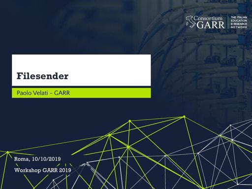 Workshop GARR 2019 - Presentazione - Velati