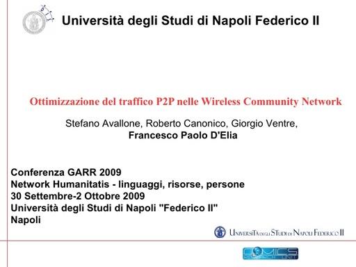 Conferenza GARR 2009 - Presentazione - Delia