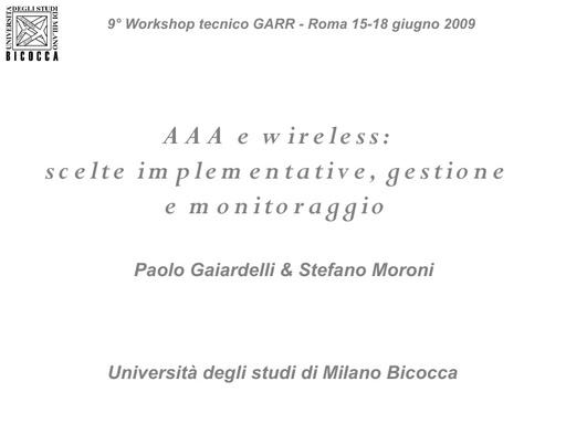 Ws09 - Presentazione - Moroni
